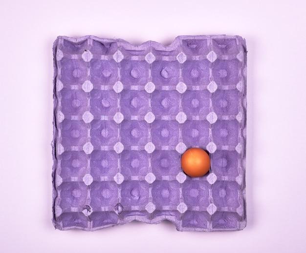 Фиолетовый защитный лоток для сырых куриных яиц с клетками
