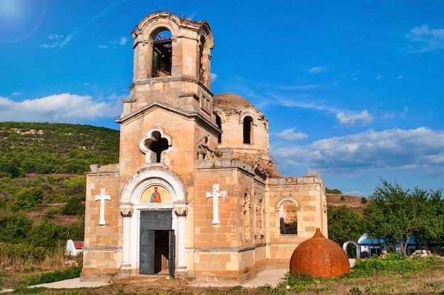 使徒と福音伝道者ルカ、ウクライナの寺院の遺跡クリミア自治共和国