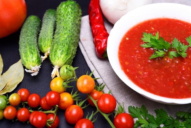 寒い夏のスープガスパチョ