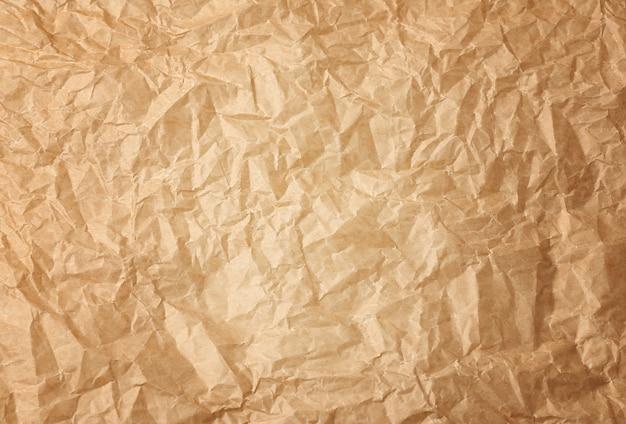しわくちゃの茶色のベーキング羊皮紙紙の背景