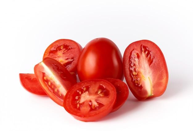 完熟赤い丸ごとトマトとスライス