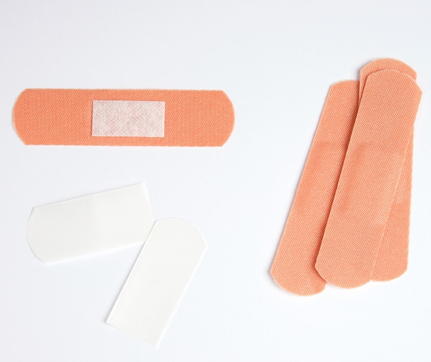 体の皮膚の傷のための茶色の織物粘着パッチ