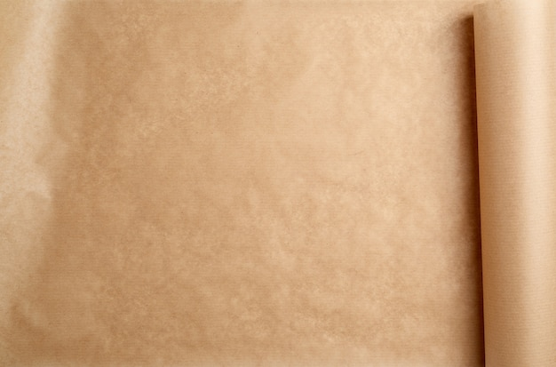拡張された茶色の紙ロール、フルフレーム