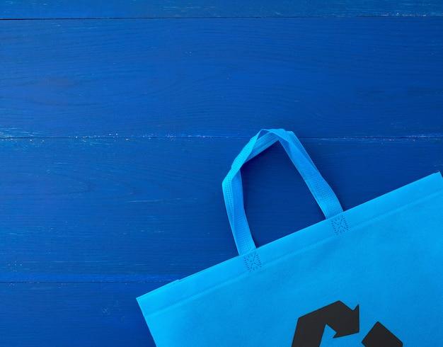 Многоразовая синяя вискозная сумка на