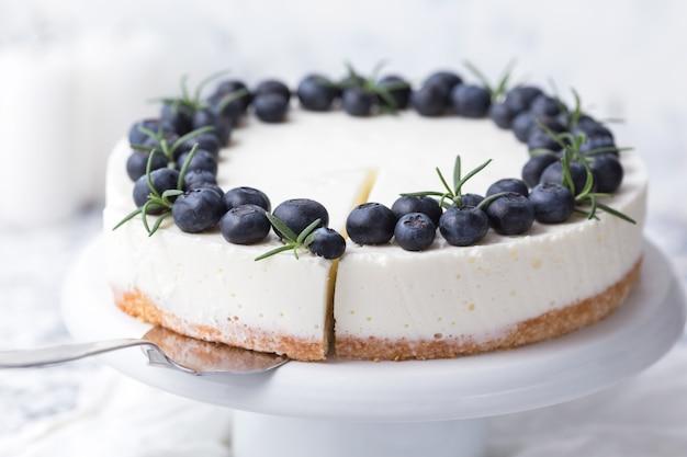 ブルーベリーとチーズケーキ