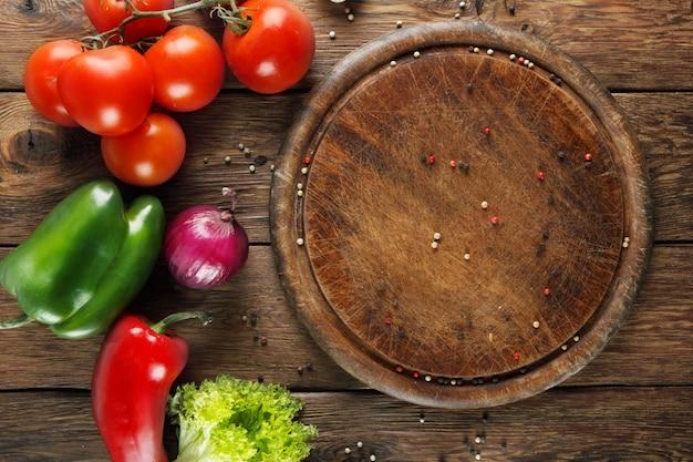 Разные овощи для пиццы