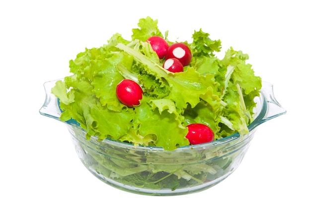 Свежий салат и редис
