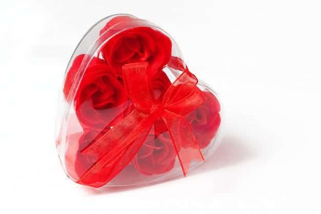 Мыло в форме розы в коробке