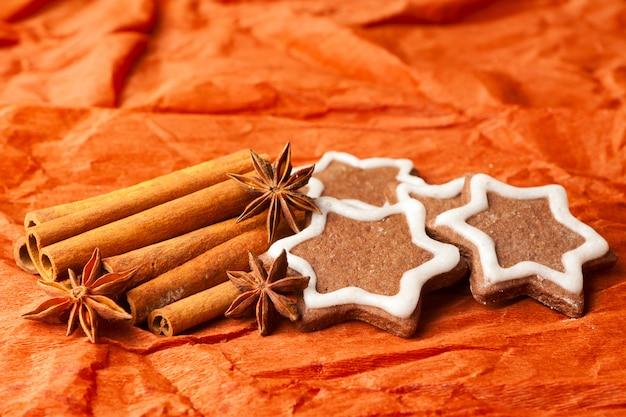 Рождественское анисовое печенье с шоколадом