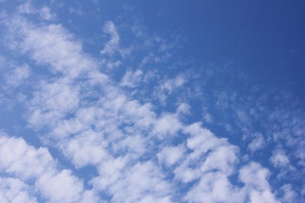 青い空に白い雲。春と夏。