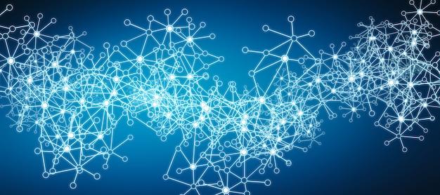 未来的なデータネットワークワイヤフレームの背景