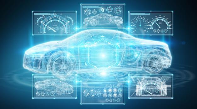 現代のデジタルスマートカーインターフェース
