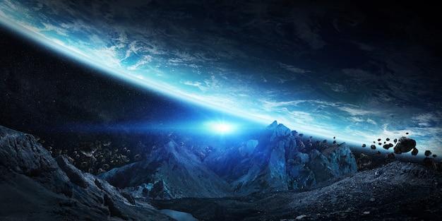 地球を墜落させようとしている巨大な小惑星