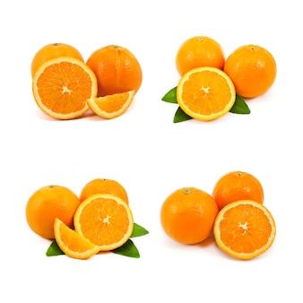 食べ背景白、オレンジ色の物体