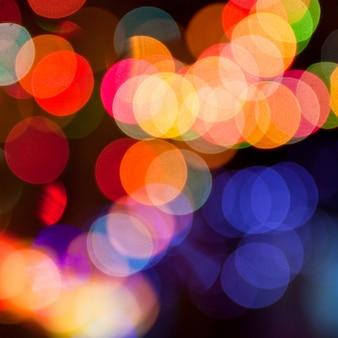 新しいクリスマスの豪華な夜のきらめき