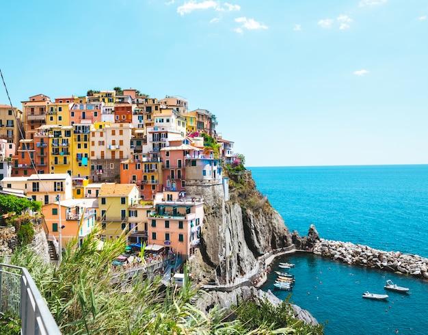マナローラ、イタリア-イタリアのチンクエテッレ国立公園の画期的な村