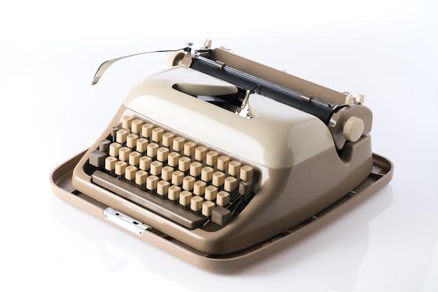 レトロなスタイルのタイプライター