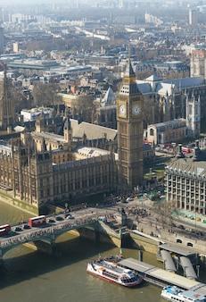 Биг бен и вестминстерское аббатство в лондоне, англия