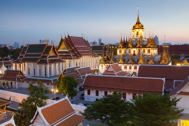 Известное место, золотая гора в бангкоке, таиланд