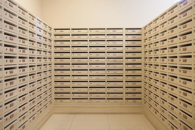 メールボックスとレターボックスルーム