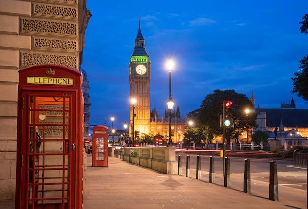 イギリス、ロンドンのビッグベンビッグベンとウェストミンスター寺院