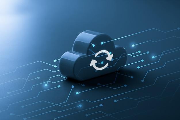 オンラインの再生可能なグローバルビジネスコンセプトのクラウドテクノロジー