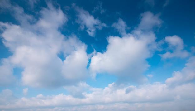 夏の雲と澄んだ夕焼け空