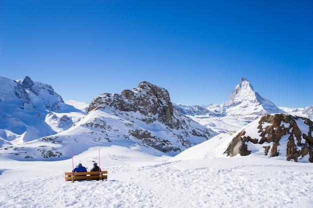Церматт, швейцария, маттерхорн, горнолыжный курорт