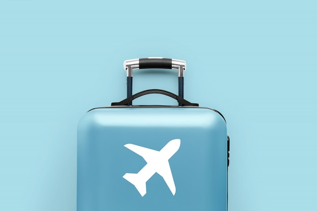旅行と飛行機のコンセプト、荷物