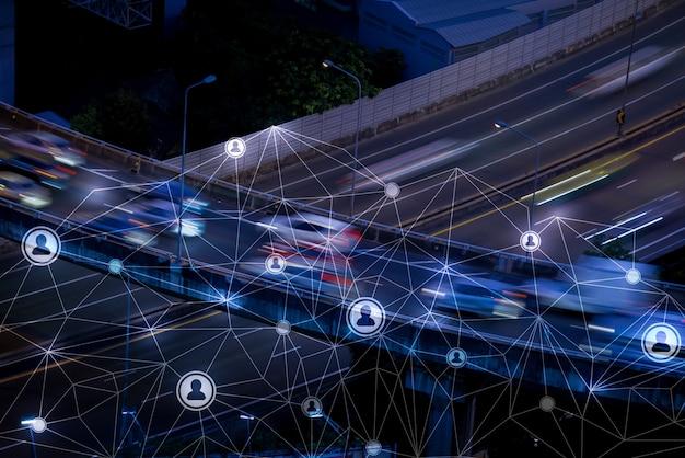 ネットワーク&人事コンセプトとしてロンドンの人々の動き