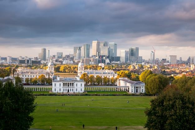 ロンドン国立海事博物館&カナリーワーフ、グリニッジ、ロンドン