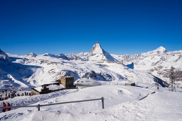 Гора маттерхорн, церматт в швейцарии