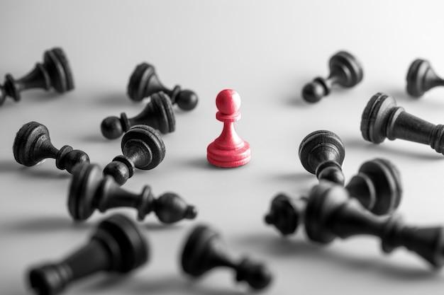 チェス図、ビジネスコンセプト戦略、リーダーシップ、チームと成功