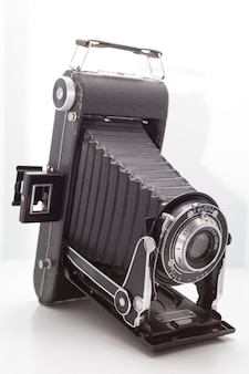 スタジオでビンテージとレトロなカメラ