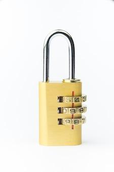 セキュリティコンセプトの現代の数字ロックキー