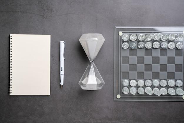 トップビューからのチェスオンラインと戦略ビジネス