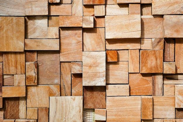 正方形のモダンな装飾が施された木製の背景