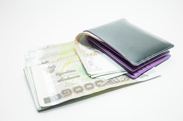 財布のタイのお金の紙幣