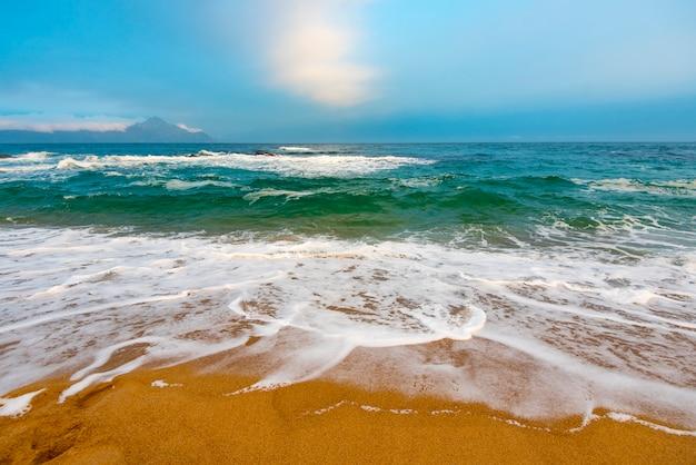 夕方の素晴らしいエーゲ海