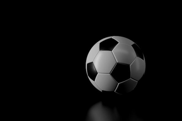 暗闇の中でサッカーの光と影