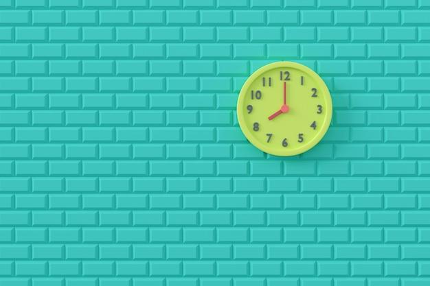 壁の時計の最小限の背景