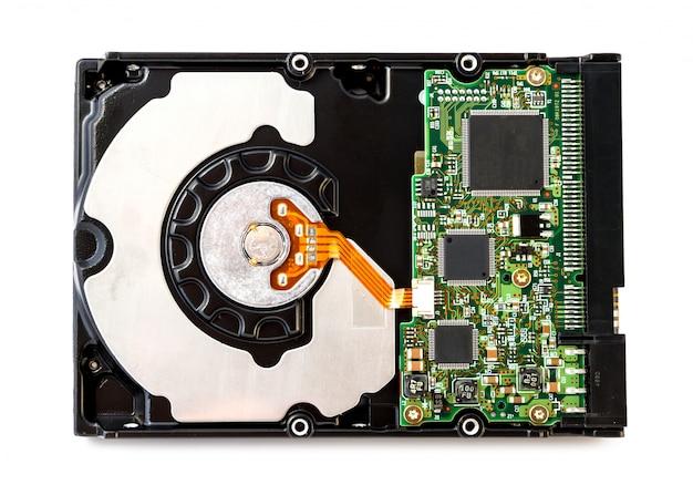 分離されたハードディスクドライブ
