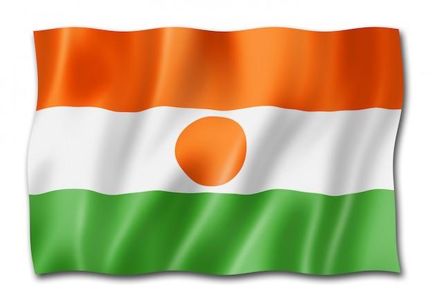 分離されたニジェールの国旗