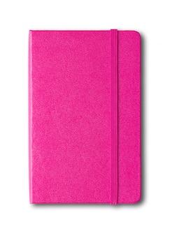 Пурпурно-розовый закрытый блокнот