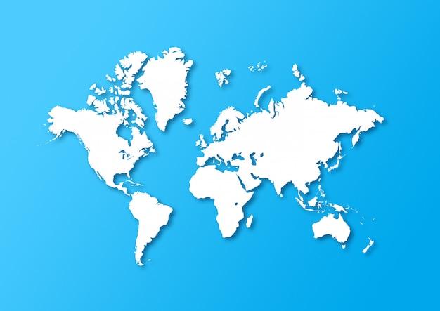 詳細な世界地図