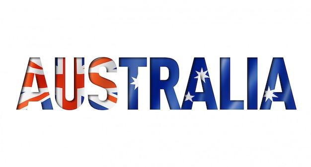 オーストラリア国旗のテキストフォント