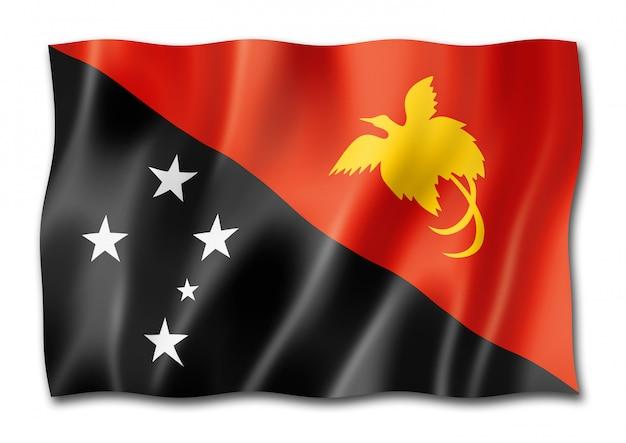 分離されたパプアニューギニアの旗