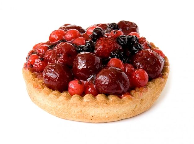 小さな新鮮な赤いフルーツパイ