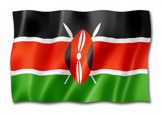 Изолированный кенийский флаг