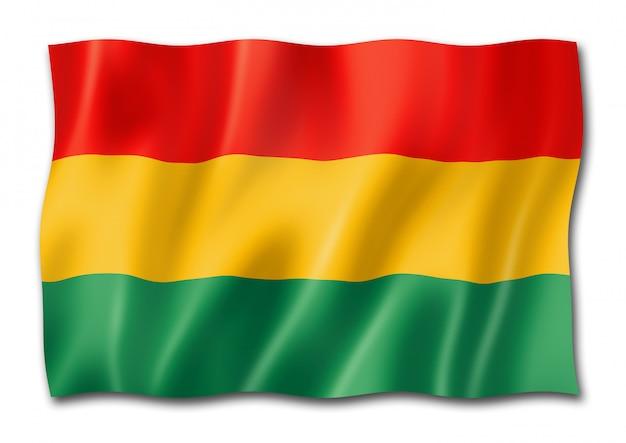白で隔離ボリビアの旗